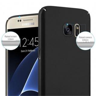 Cadorabo Hülle für Samsung Galaxy S7 in METALL SCHWARZ - Hardcase Handyhülle aus Plastik gegen Kratzer und Stöße - Schutzhülle Bumper Ultra Slim Back Case Hard Cover - Vorschau 5