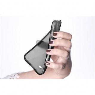Cadorabo Hülle für Nokia Lumia 650 in SCHWARZ - Handyhülle aus flexiblem TPU Silikon - Silikonhülle Schutzhülle Ultra Slim Soft Back Cover Case Bumper - Vorschau 3