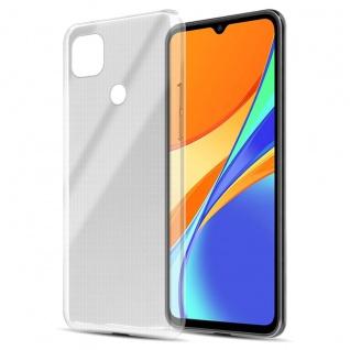 Cadorabo Hülle kompatibel mit Xiaomi Redmi 9C in VOLL TRANSPARENT Handyhülle aus flexiblem TPU Silikon Silikonhülle Schutzhülle Ultra Slim Soft Back Cover Case Bumper