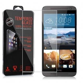 Cadorabo Panzer Folie für HTC ONE E9 - Schutzfolie in KRISTALL KLAR - Gehärtetes (Tempered) Display-Schutzglas in 9H Härte mit 3D Touch Kompatibilität