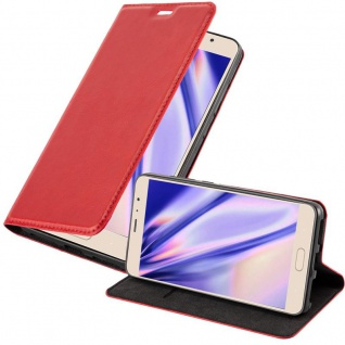 Cadorabo Hülle für Xiaomi RedMi PRO in APFEL ROT - Handyhülle mit Magnetverschluss, Standfunktion und Kartenfach - Case Cover Schutzhülle Etui Tasche Book Klapp Style