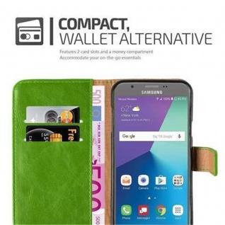 Cadorabo Hülle für Samsung Galaxy J7 2017 US Version in GRAS GRÜN ? Handyhülle mit Magnetverschluss, Standfunktion und Kartenfach ? Case Cover Schutzhülle Etui Tasche Book Klapp Style - Vorschau 4