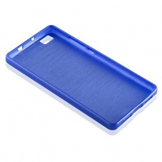 Cadorabo Hülle für Huawei P8 LITE 2015 in BLAU - Handyhülle aus flexiblem TPU Silikon - Silikonhülle Schutzhülle Ultra Slim Soft Back Cover Case Bumper - Vorschau 3
