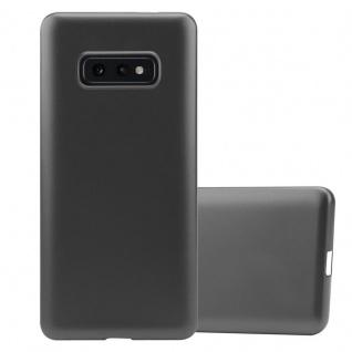 Cadorabo Hülle für Samsung Galaxy S10e in METALLIC GRAU - Handyhülle aus flexiblem TPU Silikon - Silikonhülle Schutzhülle Ultra Slim Soft Back Cover Case Bumper