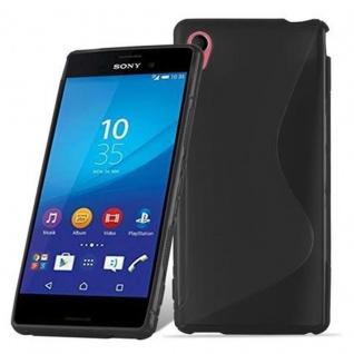 Cadorabo Hülle für Sony Xperia M4 AQUA in OXID SCHWARZ ? Handyhülle aus flexiblem TPU Silikon ? Silikonhülle Schutzhülle Ultra Slim Soft Back Cover Case Bumper