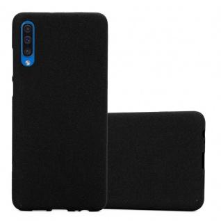 Cadorabo Hülle für Samsung Galaxy A50 in FROST SCHWARZ - Handyhülle aus flexiblem TPU Silikon - Silikonhülle Schutzhülle Ultra Slim Soft Back Cover Case Bumper