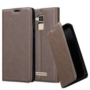 Cadorabo Hülle für Asus ZenFone 3 MAX (5, 2 Zoll) in KAFFEE BRAUN - Handyhülle mit Magnetverschluss, Standfunktion und Kartenfach - Case Cover Schutzhülle Etui Tasche Book Klapp Style