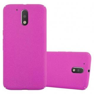 Cadorabo Hülle für Motorola MOTO G4 / MOTO G4 PLUS in FROSTY PINK - Hardcase Handyhülle aus Plastik gegen Kratzer und Stöße - Schutzhülle Bumper Ultra Slim Back Case Hard Cover