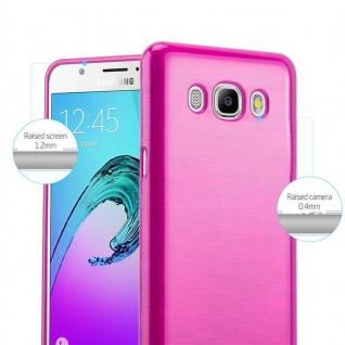 Cadorabo Hülle für Samsung Galaxy J7 2016 in PINK - Handyhülle aus flexiblem TPU Silikon - Silikonhülle Schutzhülle Ultra Slim Soft Back Cover Case Bumper - Vorschau 2