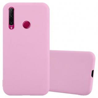 Cadorabo Hülle für Honor 10i / 20i / 20 LITE / Huawei Enjoy 9s in CANDY ROSA Handyhülle aus flexiblem TPU Silikon Silikonhülle Schutzhülle Ultra Slim Soft Back Cover Case Bumper