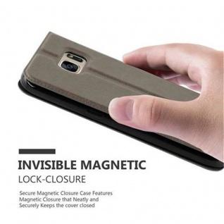 Cadorabo Hülle für Samsung Galaxy S7 in STEIN BRAUN ? Handyhülle mit Magnetverschluss, Standfunktion und 2 Sichtfenstern ? Case Cover Schutzhülle Etui Tasche Book Klapp Style - Vorschau 4