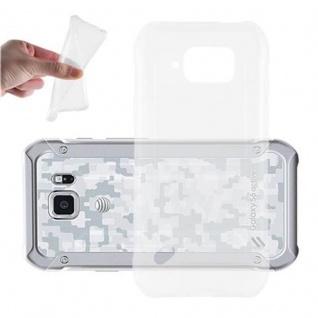 Cadorabo Hülle für Samsung Galaxy S6 ACTIVE in VOLL TRANSPARENT - Handyhülle aus flexiblem TPU Silikon - Silikonhülle Schutzhülle Ultra Slim Soft Back Cover Case Bumper