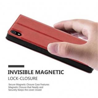 Cadorabo Hülle für Huawei P7 in SAFRAN ROT - Handyhülle mit Magnetverschluss, Standfunktion und 2 Sichtfenstern - Case Cover Schutzhülle Etui Tasche Book Klapp Style - Vorschau 5