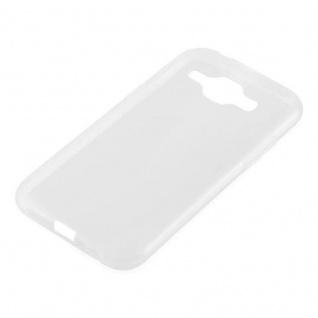Cadorabo Hülle für Samsung Galaxy J1 2015 in VOLL TRANSPARENT - Handyhülle aus flexiblem TPU Silikon - Silikonhülle Schutzhülle Ultra Slim Soft Back Cover Case Bumper - Vorschau 2