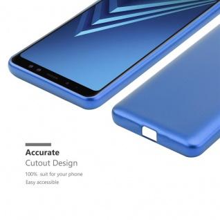 Cadorabo Hülle für Samsung Galaxy A8 2018 in METALLIC BLAU - Handyhülle aus flexiblem TPU Silikon - Silikonhülle Schutzhülle Ultra Slim Soft Back Cover Case Bumper - Vorschau 5