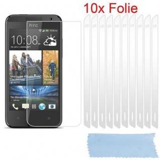 Cadorabo Displayschutzfolien für HTC DESIRE 300 - Schutzfolien in HIGH CLEAR ? 10 Stück hochtransparenter Schutzfolien gegen Staub, Schmutz und Kratzer