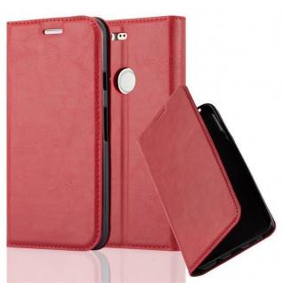 Cadorabo Hülle für Google PIXEL in APFEL ROT Handyhülle mit Magnetverschluss, Standfunktion und Kartenfach Case Cover Schutzhülle Etui Tasche Book Klapp Style