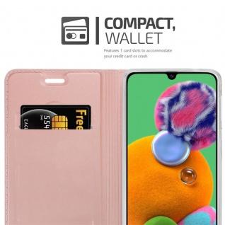Cadorabo Hülle für Samsung Galaxy A90 5G in CLASSY ROSÉ GOLD - Handyhülle mit Magnetverschluss, Standfunktion und Kartenfach - Case Cover Schutzhülle Etui Tasche Book Klapp Style - Vorschau 3