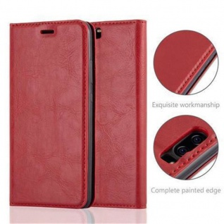 Cadorabo Hülle für Huawei P10 in APFEL ROT Handyhülle mit Magnetverschluss, Standfunktion und Kartenfach Case Cover Schutzhülle Etui Tasche Book Klapp Style - Vorschau 2