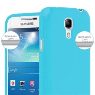 Cadorabo Hülle für Samsung Galaxy S4 MINI in JELLY HELL BLAU - Handyhülle aus flexiblem TPU Silikon - Silikonhülle Schutzhülle Ultra Slim Soft Back Cover Case Bumper - Vorschau 3
