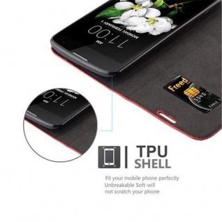 Cadorabo Hülle für LG K7 2017 in APFEL ROT Handyhülle mit Magnetverschluss, Standfunktion und Kartenfach Case Cover Schutzhülle Etui Tasche Book Klapp Style - Vorschau 2