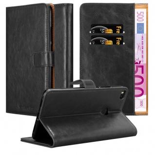 Cadorabo Hülle für Xiaomi Mi Max 2 in GRAPHIT SCHWARZ ? Handyhülle mit Magnetverschluss, Standfunktion und Kartenfach ? Case Cover Schutzhülle Etui Tasche Book Klapp Style