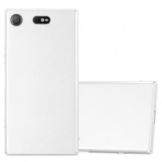 Cadorabo Hülle für Sony Xperia XZ1 Compact in METALL SILBER ? Hardcase Handyhülle aus Plastik gegen Kratzer und Stöße ? Schutzhülle Bumper Ultra Slim Back Case Hard Cover