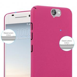 Cadorabo Hülle für HTC One A9 in FROSTY PINK - Hardcase Handyhülle aus Plastik gegen Kratzer und Stöße - Schutzhülle Bumper Ultra Slim Back Case Hard Cover - Vorschau 3