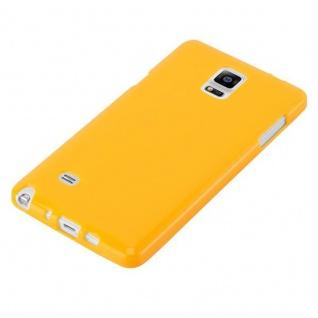 Cadorabo Hülle für Samsung Galaxy NOTE 4 in JELLY GELB ? Handyhülle aus flexiblem TPU Silikon ? Silikonhülle Schutzhülle Ultra Slim Soft Back Cover Case Bumper - Vorschau 3