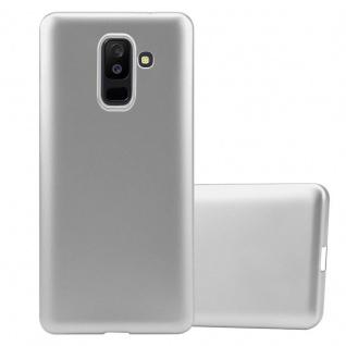 Cadorabo Hülle für Samsung Galaxy A6 PLUS 2018 in METALLIC SILBER Handyhülle aus flexiblem TPU Silikon Silikonhülle Schutzhülle Ultra Slim Soft Back Cover Case Bumper