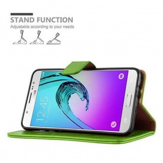 Cadorabo Hülle für Samsung Galaxy J5 2016 in GRAS GRÜN - Handyhülle mit Magnetverschluss, Standfunktion und Kartenfach - Case Cover Schutzhülle Etui Tasche Book Klapp Style - Vorschau 5