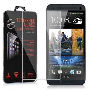 Cadorabo Panzer Folie für HTC ONE E8 - Schutzfolie in KRISTALL KLAR - Gehärtetes (Tempered) Display-Schutzglas in 9H Härte mit 3D Touch Kompatibilität