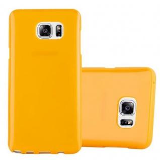 Cadorabo Hülle für Samsung Galaxy NOTE 5 in JELLY GELB ? Handyhülle aus flexiblem TPU Silikon ? Silikonhülle Schutzhülle Ultra Slim Soft Back Cover Case Bumper