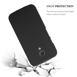 Cadorabo Hülle für Motorola MOTO Z2 in FROSTY SCHWARZ - Hardcase Handyhülle aus Plastik gegen Kratzer und Stöße - Schutzhülle Bumper Ultra Slim Back Case Hard Cover - Vorschau 3