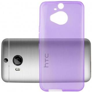 Cadorabo Hülle für HTC ONE M9 PLUS (3.Gen.) - Hülle in TRANSPARENT LILA ? Handyhülle aus TPU Silikon im Ultra Slim 'AIR' Design - Ultra Slim Soft Backcover Case Bumper