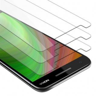 Cadorabo 3x Panzer Folie für Nokia 2.1 2018 - Schutzfolie in KRISTALL KLAR - 3er Pack Gehärtetes (Tempered) Display-Schutzglas in 9H Härte mit 3D Touch Kompatibilität
