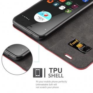 Cadorabo Hülle für ZTE BLADE A520 in APFEL ROT Handyhülle mit Magnetverschluss, Standfunktion und Kartenfach Case Cover Schutzhülle Etui Tasche Book Klapp Style - Vorschau 2