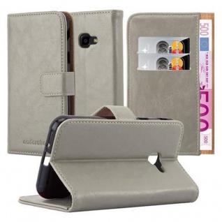 Cadorabo Hülle für Samsung Galaxy Xcover 4 in CAPPUCCINO BRAUN ? Handyhülle mit Magnetverschluss, Standfunktion und Kartenfach ? Case Cover Schutzhülle Etui Tasche Book Klapp Style