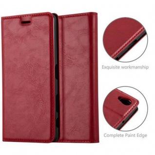 Cadorabo Hülle für Sony Xperia X in APFEL ROT Handyhülle mit Magnetverschluss, Standfunktion und Kartenfach Case Cover Schutzhülle Etui Tasche Book Klapp Style - Vorschau 2