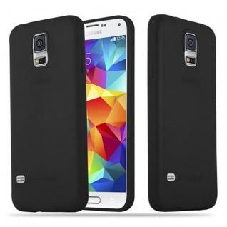 Cadorabo Hülle für Samsung Galaxy S5 / S5 NEO in CANDY SCHWARZ - Handyhülle aus flexiblem TPU Silikon - Silikonhülle Schutzhülle Ultra Slim Soft Back Cover Case Bumper