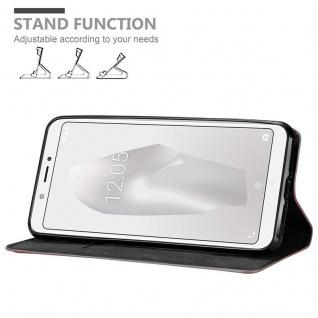Cadorabo Hülle für BQ Aquaris C in APFEL ROT Handyhülle mit Magnetverschluss, Standfunktion und Kartenfach Case Cover Schutzhülle Etui Tasche Book Klapp Style - Vorschau 4