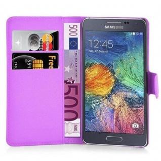 Cadorabo Hülle für Samsung Galaxy A7 2015 in MANGAN VIOLETT - Handyhülle mit Magnetverschluss, Standfunktion und Kartenfach - Case Cover Schutzhülle Etui Tasche Book Klapp Style - Vorschau 2