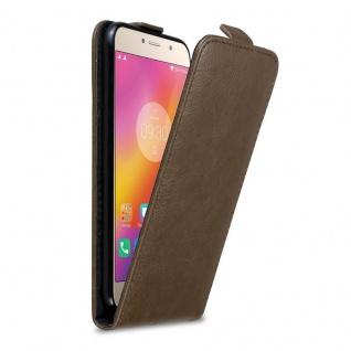 Cadorabo Hülle für Lenovo P2 in KAFFEE BRAUN Handyhülle im Flip Design mit Magnetverschluss Case Cover Schutzhülle Etui Tasche Book Klapp Style