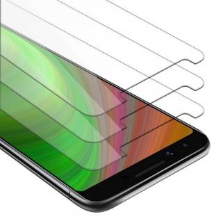 Cadorabo 3x Panzer Folie für Google Pixel 3 - Schutzfolie in KRISTALL KLAR - 3er Pack Gehärtetes (Tempered) Display-Schutzglas in 9H Härte mit 3D Touch Kompatibilität