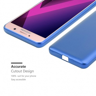 Cadorabo Hülle für Samsung Galaxy A7 2017 in METALLIC BLAU - Handyhülle aus flexiblem TPU Silikon - Silikonhülle Schutzhülle Ultra Slim Soft Back Cover Case Bumper - Vorschau 5