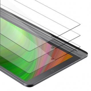 """"""" Cadorabo 3x Panzer Folie für Lenovo Yoga Tab 3 Plus (10.1"""") - Schutzfolie in KRISTALL KLAR - 3er Pack Gehärtetes (Tempered) Display-Schutzglas in 9H Härte mit 3D Touch Kompatibilität"""""""