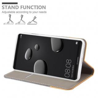 Cadorabo Hülle für Huawei MATE 10 PRO in HELL GRAU BRAUN - Handyhülle mit Magnetverschluss, Standfunktion und Kartenfach - Case Cover Schutzhülle Etui Tasche Book Klapp Style - Vorschau 3