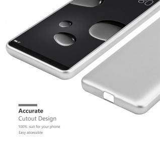 Cadorabo Hülle für Huawei MATE 10 PRO in METALLIC SILBER - Handyhülle aus flexiblem TPU Silikon - Silikonhülle Schutzhülle Ultra Slim Soft Back Cover Case Bumper - Vorschau 5