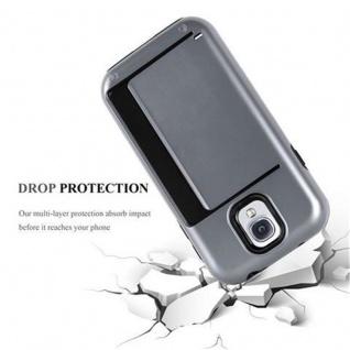 Cadorabo Hülle für Samsung Galaxy S4 - Hülle in ARMOR SILBER ? Handyhülle mit Kartenfach - Hard Case TPU Silikon Schutzhülle für Hybrid Cover im Outdoor Heavy Duty Design - Vorschau 3