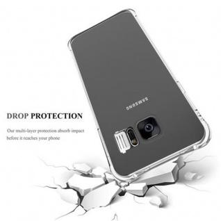 Cadorabo Hülle für Samsung Galaxy S7 EDGE - Hülle in STAR TRANSPARENT - Handyhülle aus TPU Silikon im LED-Blitzlicht-Design - Silikonhülle Schutzhülle Ultra Slim Soft Back Cover Case Bumper - Vorschau 4